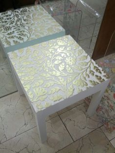 Diy furniture - Zara home coffee table , coffee home table Zara Decoupage Furniture, Painting Furniture Diy, Diy Decor, Furniture Makeover, Diy Home Decor, Diy Furniture, Painted Furniture, Zara Home Coffee Table, Stencil Furniture