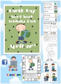 FREE Earth Day Word Wall Word Work Pack - PDF file26 page Earth Day Pack designed by Clever Classroom.All you need for Earth Day on 22nd of...
