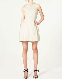 Natural Tulip Skirt Dress