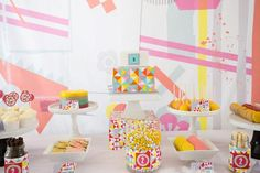 A Fabulous Bright Geometric Party for Amelie's 2nd Birthday by Carly