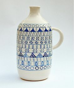 Flasa modranska by modranska /SAShE.sk - Handmade Keramika