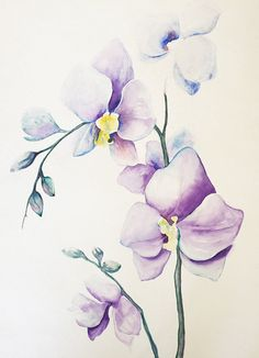 Original painting  orchids  art  wall decor  give by artbygeorgia