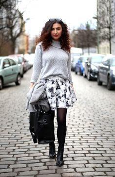 Skater Skirt Outfit // For more inspiration visit samieze.com * Berlin Fashion blog