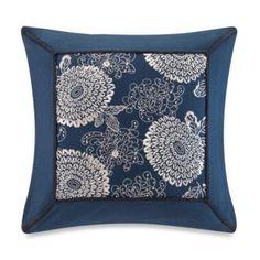 Artology Sashiko Square Decorative Pillow in Indigo - BedBathandBeyond.com