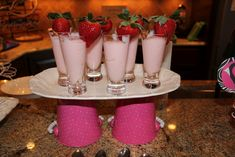 spa party strawberry smoothie