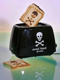 Skull and Crossbones Toaster by Horrific Finds