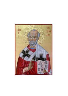 St. Nicholas hand painted orthodox icon Byzantine,  Orthodox Icons, Icons Ii…