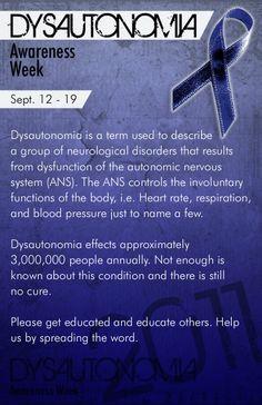 Dysautonomia Awareness Week 2011, Sept. 12-19, Pass it on!!!