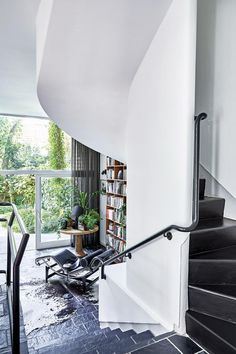 A Modernist Landmark Home In Claremont | House and Leisure #blockplan #rubenrossouw #interiordesign #stair