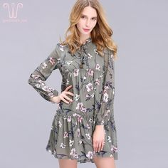 2017 New Arrival Spring Women's Clothing O-Neck Fashion Brief Brand Floral Print Plus Size Loose Chiffon Straight Dress S-2XL              Notice 1. Free Shipping, we will send all of free shipping goods by China Post Air Mail, 35-60 days on the way (US via ePacket, 5-15 days). 2. If package don't arrive in 60 days (Russian Federation 90days) we offer full refund of goods (Shipping fee...