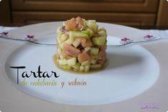 Tartar de calabacín y salmón | Cocinar en casa es facilisimo.com
