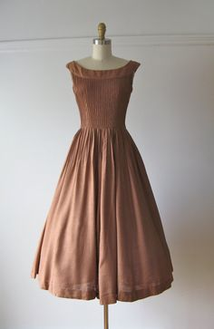 vintage 1950s Peck & Peck dress / 50s dress / Chocolate Milk by Dronning, $154.00