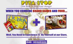 Board games and Food...The perfect partner for each other. Now you can experience it at our store.