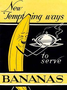 Advert Vintage Bananas Food Fruit Funny 1939 New Fine Art Print Poster CC2627   eBay