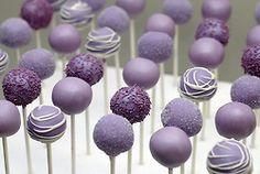 Cake balls in plum. www.endingiseternity.com