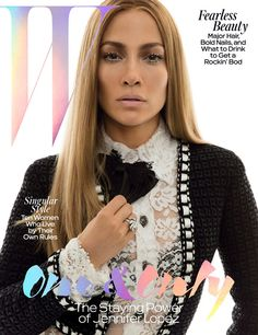 Jennifer Lopez Looks Ageless On The Cover Of 'W' With Barely-There Makeup