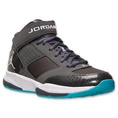 Men's Jordan BCT Mid 2 Training Shoes| FinishLine.com | Dark Grey/White/Gamma Blue