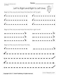 Tracing Lines Worksheet Set 1