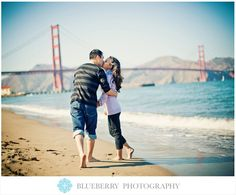 Crissy Field beach fun engagement session photography