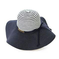 Fashion navy stripes floppy sun hat for women UV protection c9ed0b931fd5