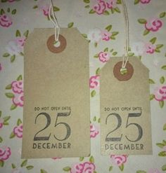 Do Not Open Until 25th December Brown Gift Tags x20