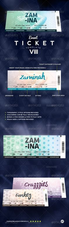Event Ticket Template 8
