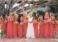 Coral and blue wedding - Style Me Pretty | Gallery