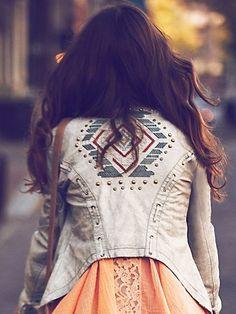 Lace Up Vegan Leather Jacket
