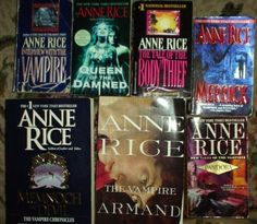 Anne Rice books <3 - loved everybook in witches & warlocks series.