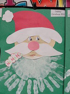Santa  hand print
