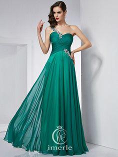 #dark #green pleats prom dressshare more #gorgeous #pretty #nice #prom dress on www.imerle.com/en/prom-dresses/?p=8