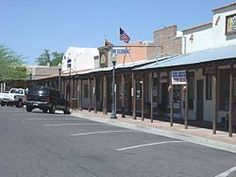 Frontier Street at Wickenburg, Arizona.