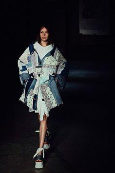 white bandana and denim.jacket margiela - Google Search