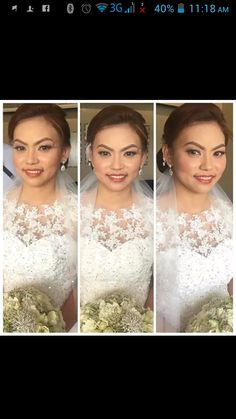 """Our beautiful bride Sheryl. Poses like a pro and is just so graceful and sweet. Congrats to you again and MJ. ;)  Ms. CJ thank you po sayo at sa buong team mo. Ang pretty ko daw po kanina sabi nila.. Hehe! Naenjoy ko pong kasama kayong lahat... Again super thank you po lalo na sa pag aalaga   She said """"  CJ Jimenez Hair and Make Up Artists Team: 1. Exceptional Portfolio 2. Consistent, More than A Thousand, Unsolicited and Real Time Positive Clients Feedback 3. Numerous Credentials:  Pond's…"""