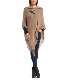 Bought it - Ecru Toggle Hooded Poncho