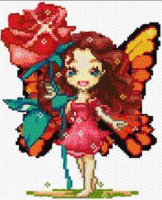 free cross stitch fairy