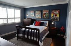 Get inspired by Modern Bedroom Design photo by Casa Moderna Designs Inc. Wayfair lets you find the designer products in the photo and get ideas from thousands of other Modern Bedroom Design photos. 5 Year Old Boys Bedroom, Big Boy Bedrooms, Boys Bedroom Decor, Childrens Bedroom, Bedroom Ideas, Bed Ideas, Superhero Room, Kids Bunk Beds, Bedroom Photos