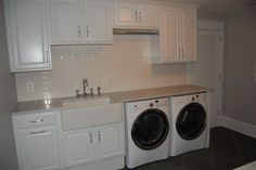 Finished Basement Laundry Room - traditional - laundry room - dc metro - Arl Tile