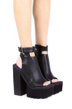 Jeffrey Campbell Shoes MILIEU Platforms in Black