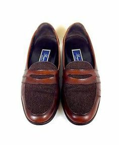 Bragano Shoes Leather Brown Cole Haan Slip on Italy Penny Loafers Mens 8 M | eBay