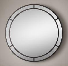 Industrial Arch Round Mirror
