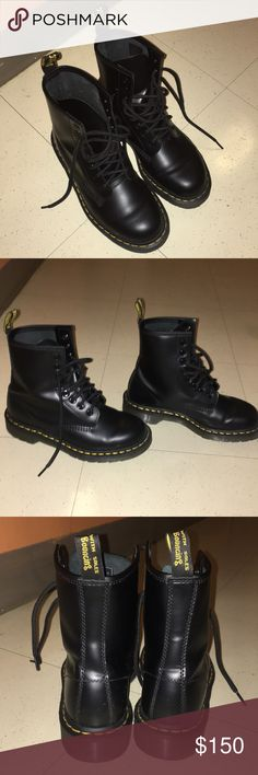 Women's Dr. Marten Boots Only 3 weeks old and have been worn twice. Dr. Martens Shoes Combat & Moto Boots