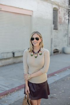 Camel with Oxblood | Cupcakes & Cashmere