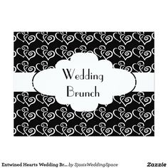 #EntwinedHearts Wedding Brunch Invitation @sjasis