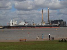 A ship passing Gravesend on the river Thames [shared]