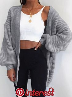 Outfit ideen Fall Outfits With Lengthy Cardigans - Outfits A Cabin Mode Outfits, Dance Outfits, Fashion Outfits, Fashion Ideas, Vest Outfits, Fashion Clothes, Fashion Trends, Fashion Boots, Party Fashion