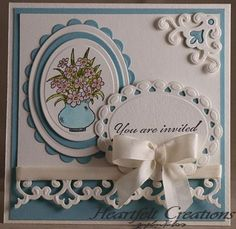 Very nice card. I love that lacy looking edging at the bottom-try with SU Eyelet punch