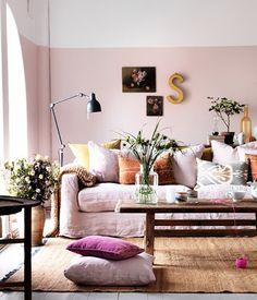 Pink Living Room Clive Tompsett Photography Skona Hem OSBP at Home: Living Room Reading Nook