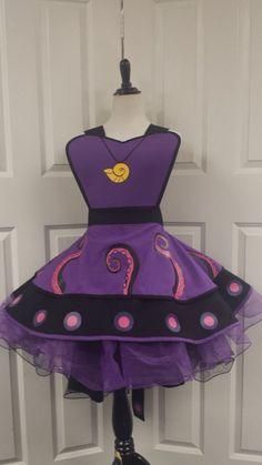 Sea Witch Villian Cosplay Retro Pin Up by VioletPhoenixDesignz Disney Princess Aprons, Disney Aprons, Villans Costumes, Cool Aprons, Kids Dress Up, Running Costumes, Retro Pin Up, Sewing Aprons, Diy Hat