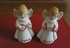 """Vintage Made in Japan Angel Figurines in Izabel's Garage Sale in Deltona , FL for $9.00. These adorable porcelain angels measure 3 1/2"""" h and are in excellent condition. No chips, cracks or crazing. Perfect for any angel collection or to display during Christmas holidays. Bottoms marked """"Japan"""" as can be seen in pictures. Shipping is additonal -calculated by zip"""